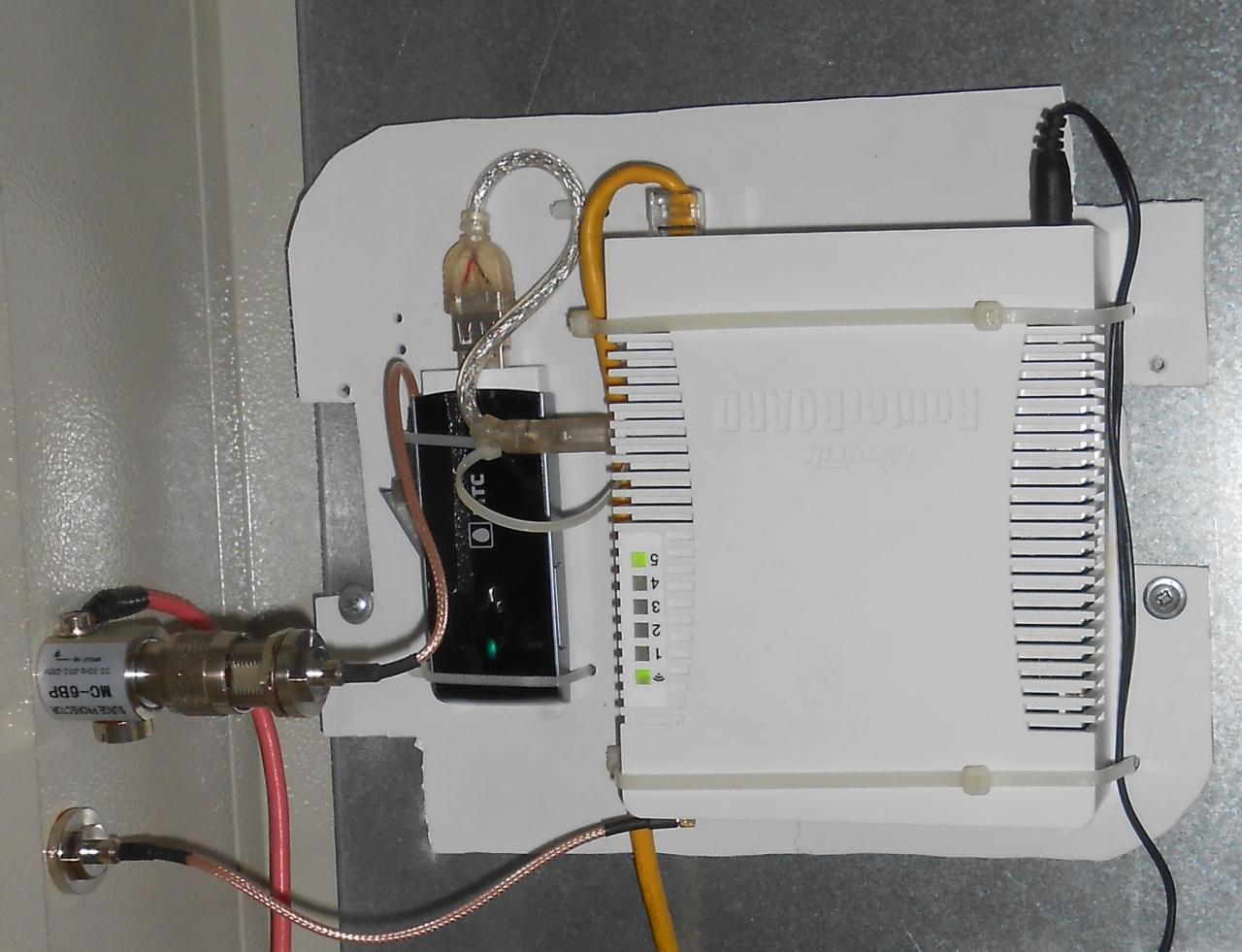 Mikrotik RB751U-2HnD и 3G в ящике