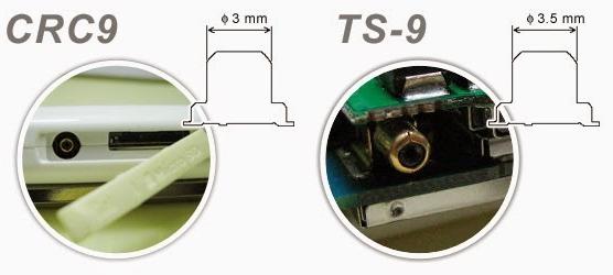 Отличия разъема TS9 и CRC9