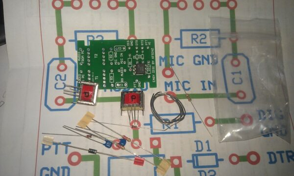 """EASY DIGI"" Sound Card Interface PSK RTTY SSTV NBEMS JT-65 PCB KIT"