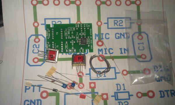 """""""EASY DIGI"""" Sound Card Interface PSK RTTY SSTV NBEMS JT-65 PCB KIT"""