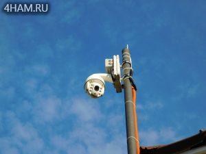 На мачте PTZ камера OKAYVISION OK-HD200M64X-355