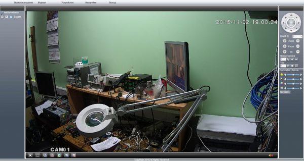 WEB интерфейс управления камерой OKAYVISION OK-HD200M64X-355