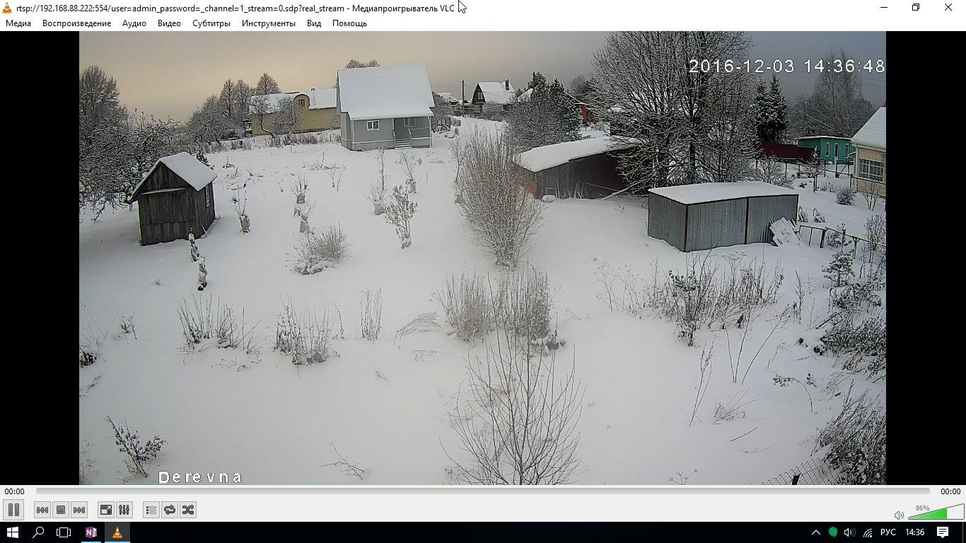 VLC. Видео с IP-камеры