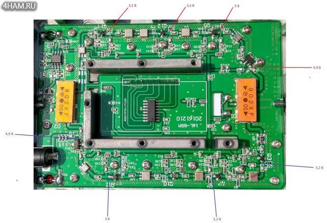 GSM репитер Lintratek KW16L-EGSM: Карта напряжения
