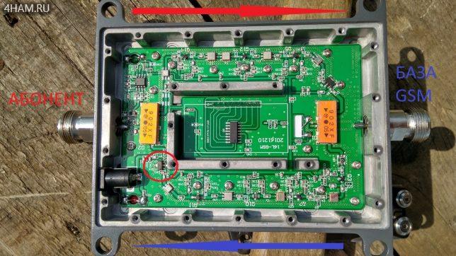 Выходной усилитель 6004G на плате GSM репитера Lintratek KW16L-EGSM