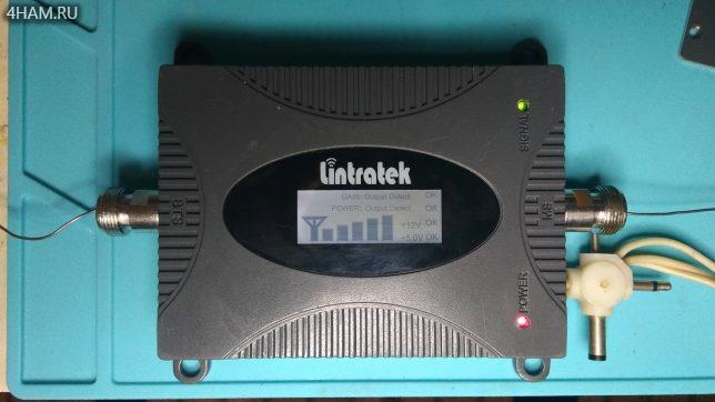 GSM репитере Lintratek KW16L-EGSM работает после ремонта