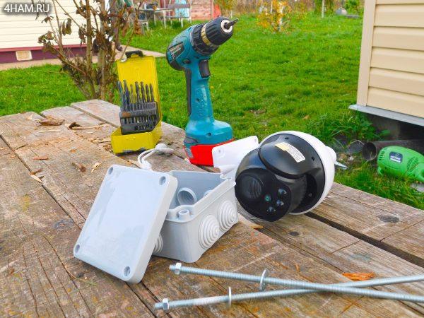 Подготовка PTZ камеры к монтажу на столб в деревне
