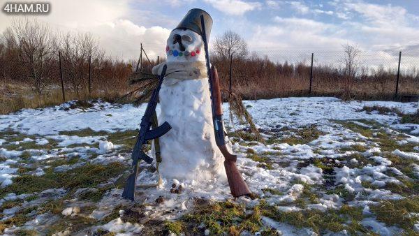 Снеговик на 23 февраля 2020