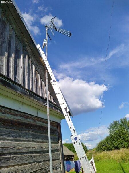 Мачта для антенн ТВ и GSM репитера